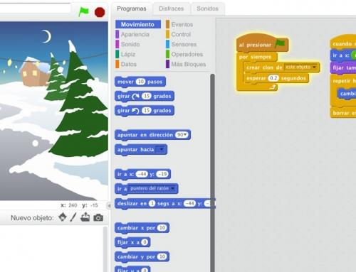 Clones en Scratch: Efecto nieve en videojuegos