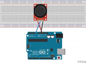 Joystick protoboard y Arduino