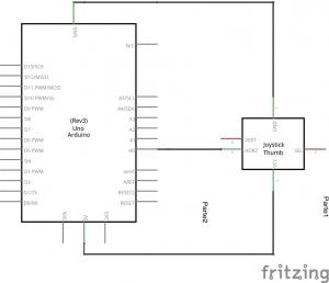 Joystick y Arduino esquema
