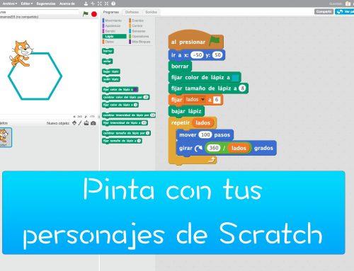 Dibujando con los personajes de Scratch.