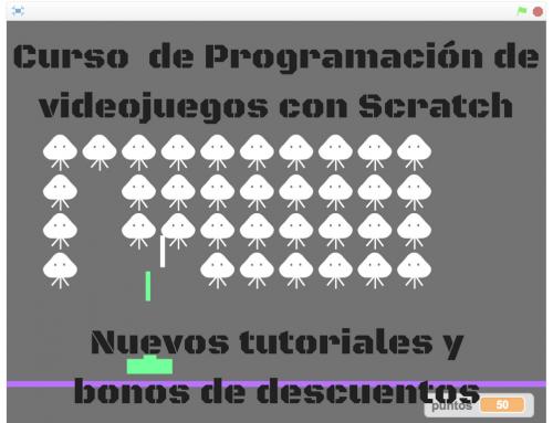Nuevos juegos y nuevos bonos de descuento para el curso de programación de videojuegos con Scratch