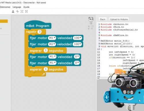 Conoce la interfaz de mBlock y programa los primeros pasos de tu mBot.