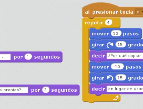 Copia-y-pega en proyectos Scratch