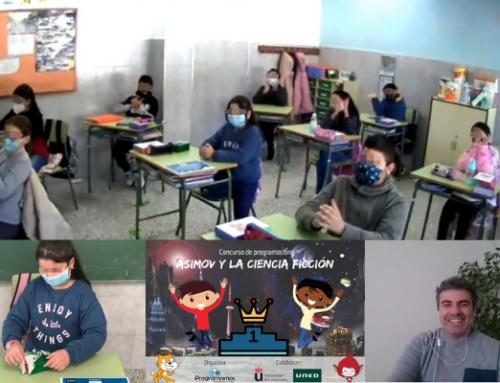 Un grupo de grandes programadores de 6º de primaria de Ceuta entrevista a Programamos